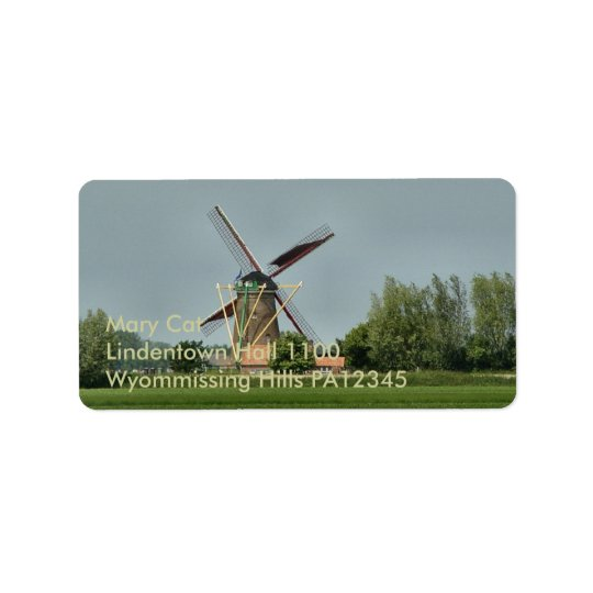 Dutch Windmill #1 Label