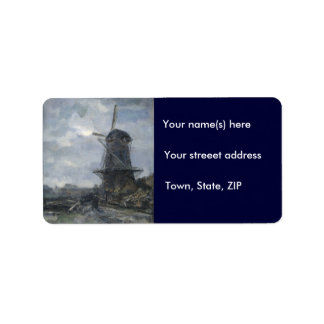 Dutch windmill in moonlight Maris Label