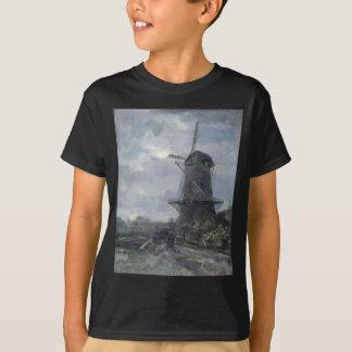 Dutch windmill in moonlight Maris T-Shirt