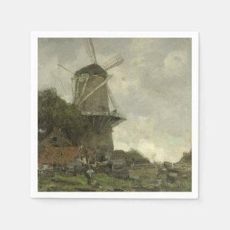 Dutch windmill, Jacob Maris Disposable Napkins