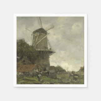 Dutch windmill, Jacob Maris Paper Napkin