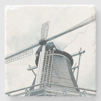 Dutch windmill stone coaster