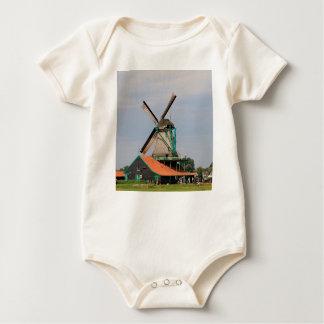 Dutch windmill village, Holland 3 Baby Bodysuit