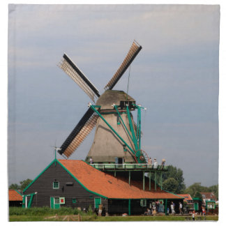 Dutch windmill village, Holland 3 Napkin