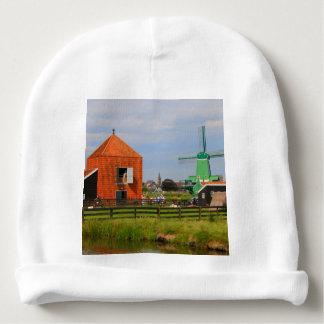 Dutch windmill village, Holland 4 Baby Beanie