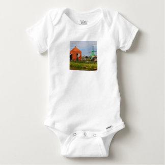 Dutch windmill village, Holland 4 Baby Onesie