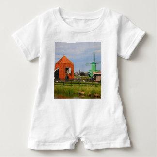 Dutch windmill village, Holland 4 Baby Romper