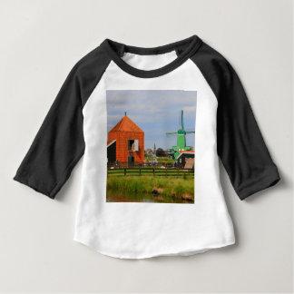 Dutch windmill village, Holland 4 Baby T-Shirt