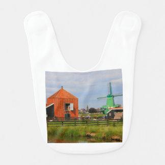 Dutch windmill village, Holland 4 Bib
