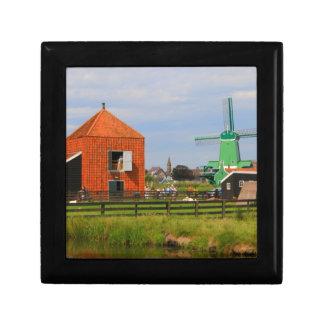 Dutch windmill village, Holland 4 Gift Box