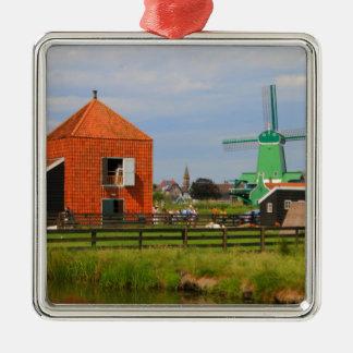 Dutch windmill village, Holland 4 Metal Ornament