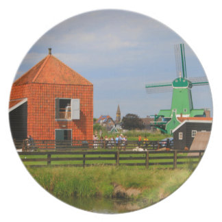 Dutch windmill village, Holland 4 Plate