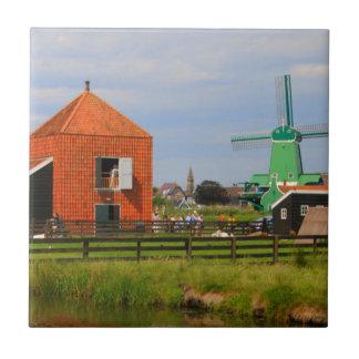 Dutch windmill village, Holland 4 Tile