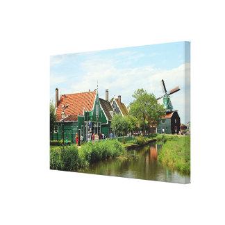 Dutch windmill village, Holland Canvas Print