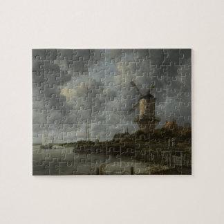 Dutch windmill Wijk bij Duustede, Ruisdael Puzzle
