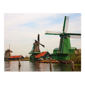 Dutch Windmills, Zaanse Schans. Postcard