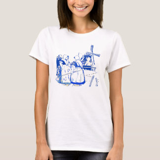 Dutch Women At Windmill T-Shirt