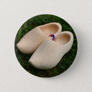 Dutch wooden clogs 2 inch round button