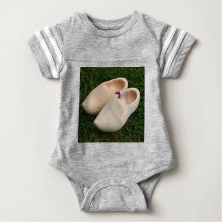 Dutch wooden clogs baby bodysuit