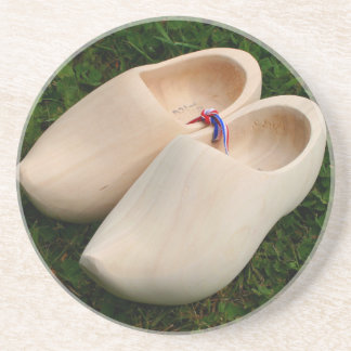 Dutch wooden clogs coaster
