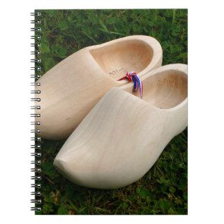 Dutch wooden clogs notebook