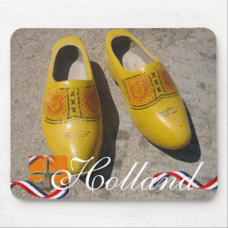 Dutch Wooden Shoes Clogs Holland Souvenir Mouse Pad