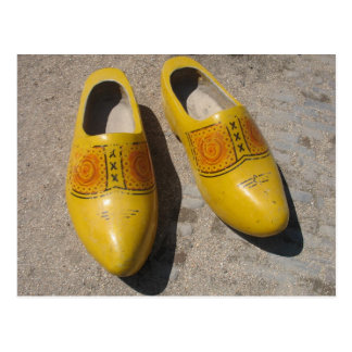 Dutch Wooden Shoes in Holland Clogs Postcard