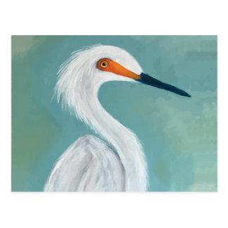 """Dutchess"" Egret Painting Postcard"