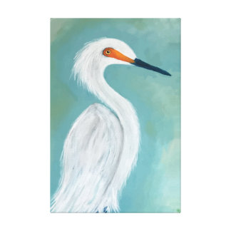 Dutchess - Great White Egret Canvas Print