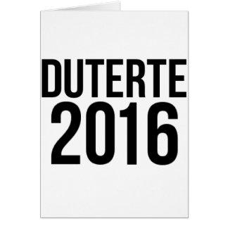 Duterte 2016 card
