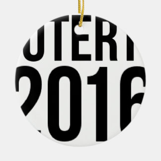 Duterte 2016 round ceramic ornament