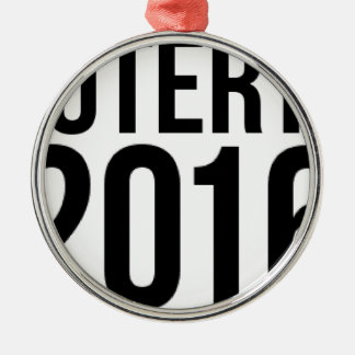 Duterte 2016 Silver-Colored round ornament