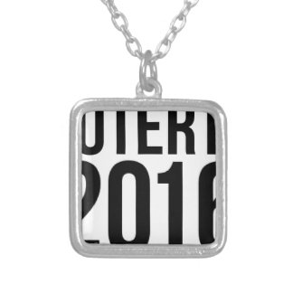 Duterte 2016 silver plated necklace