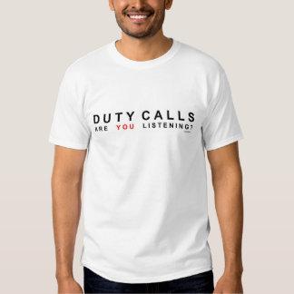 DUTY CALLS SHIRTS