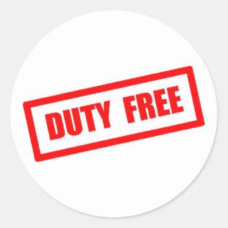 Duty Free Classic Round Sticker