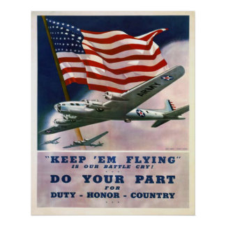 Duty Honor Country Poster
