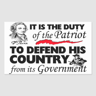 Duty Of the Patriot! Sticker