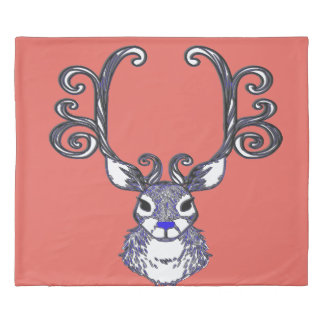 Duvet cover Bluenoser Reindeer deer king peach