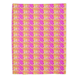 duvet cover pink yellow stripe