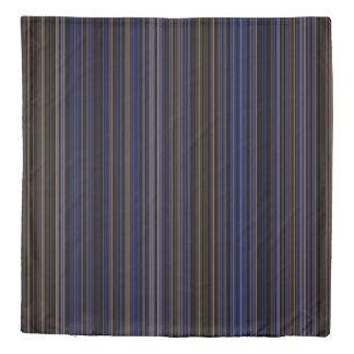 Duvet cover retro brown purple blue stripe
