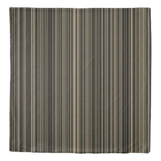 Duvet cover retro brown taupe cream stripe
