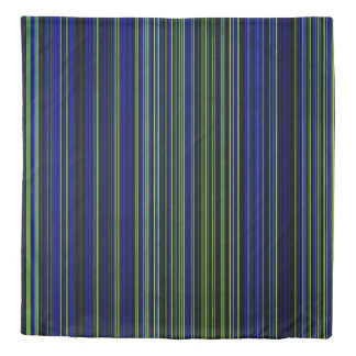 Duvet cover Retro stripe lime green blue