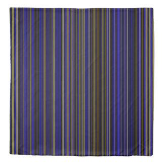 Duvet cover Retro stripe purple yellow blue brown