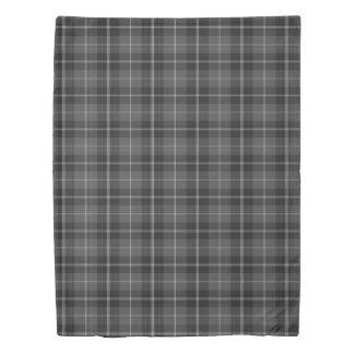 Duvet cover twin Grey black white modern plaid