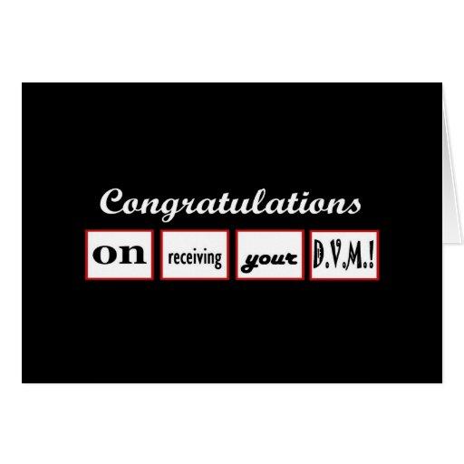 DVM Degree - CUSTOM NAME Congratulations - Greeting Card