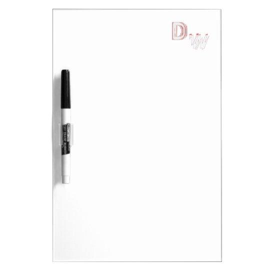 DW LOGO: Dry Erase Board Medium w/ Pen