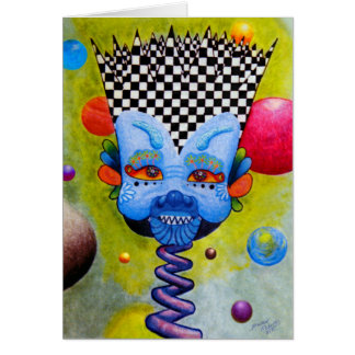 "Dwainizms ""Blue Man"" 5x7 Blank Greeting Card"