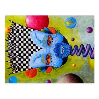 """Dwainizms """"Blue Man"""" Colorful Postcard"""
