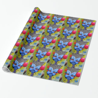 "Dwainizms ""Blue Man"" Glossy Wrapping Paper"
