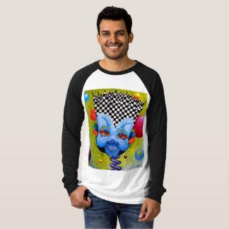 """Dwainizms """"Blue Man"""" Long Sleeve Raglan T-Shirt"""